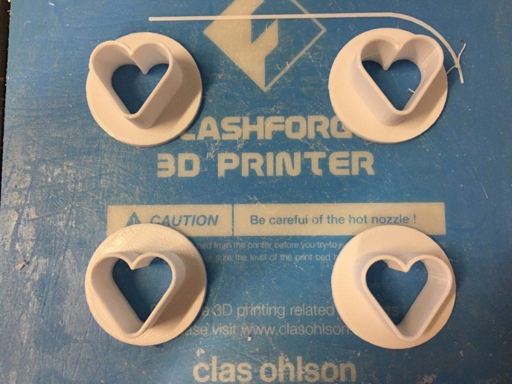 3D Printed Miniature Cookie Heart Cutters