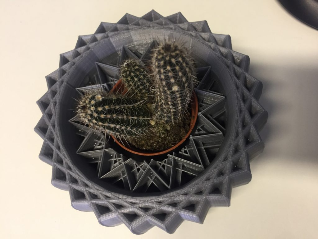 Finished 3D Printed Plant Pot