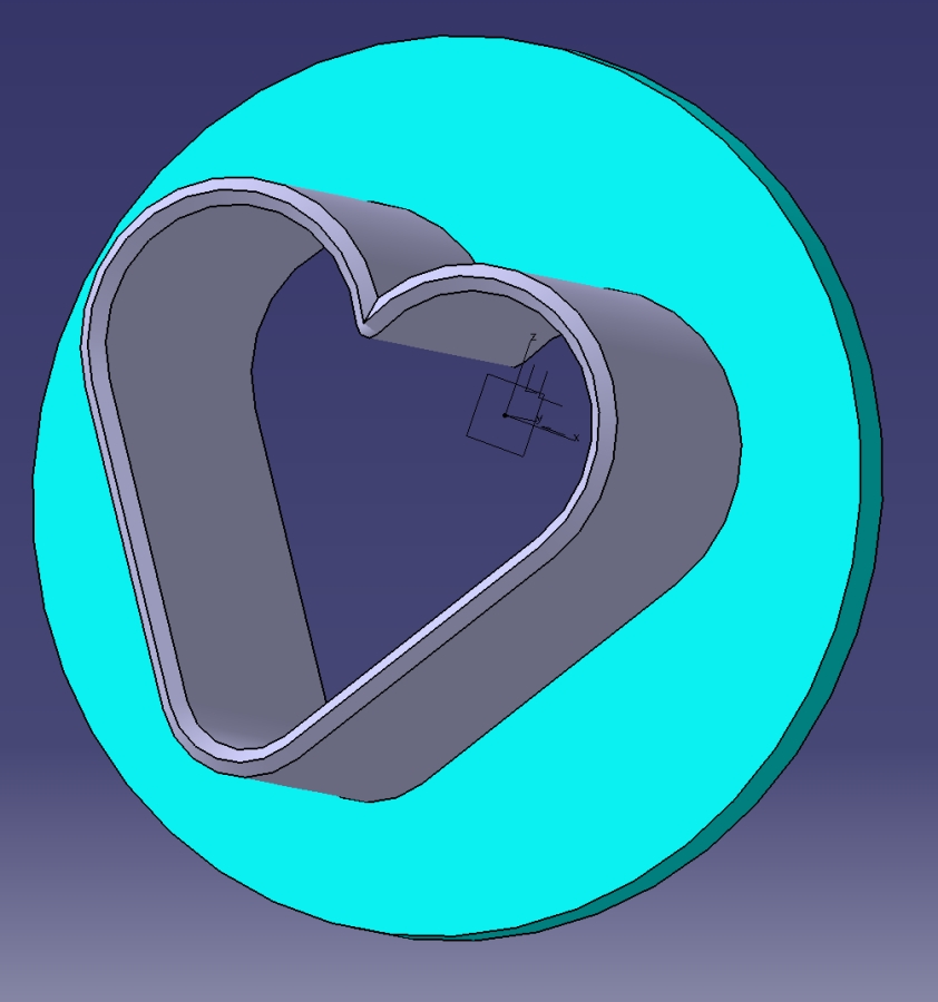 Cookie Heart Cutter On CAD