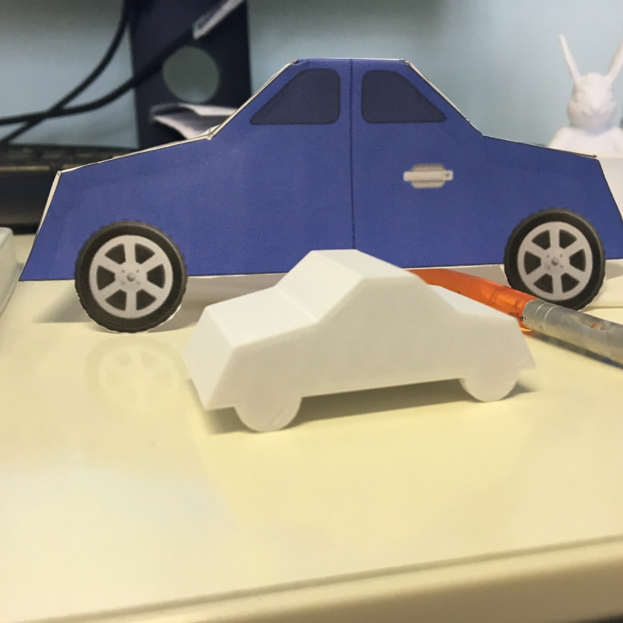 3D Printed Car and Purple Mash Net