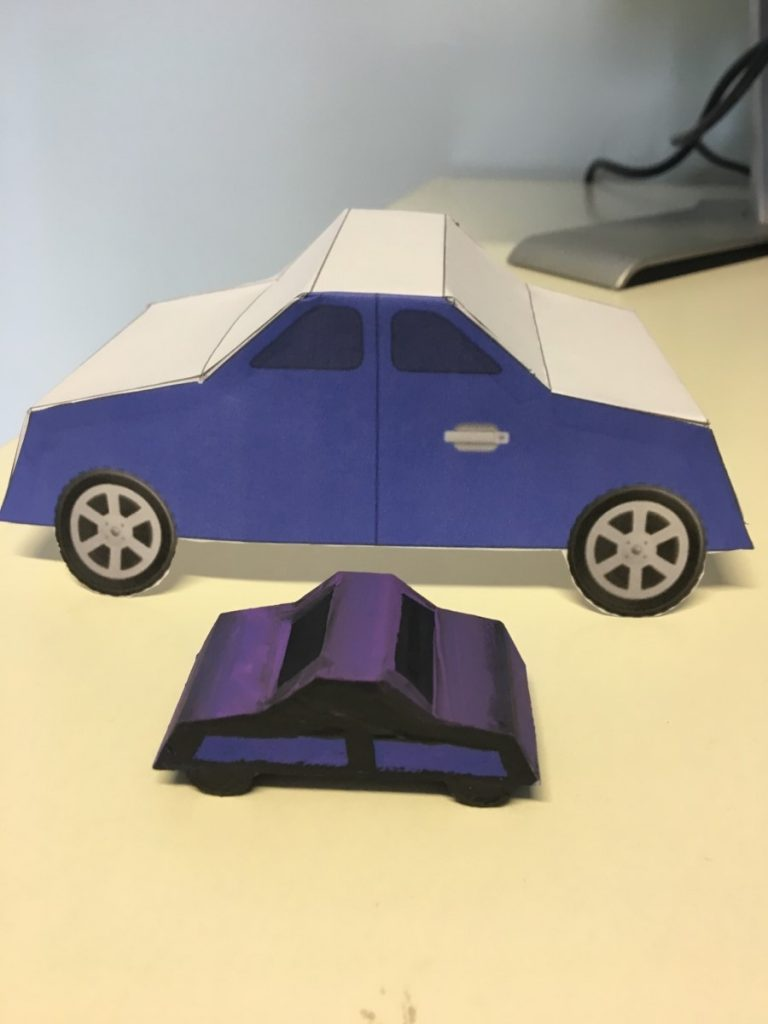 Painted 3D Printed Car