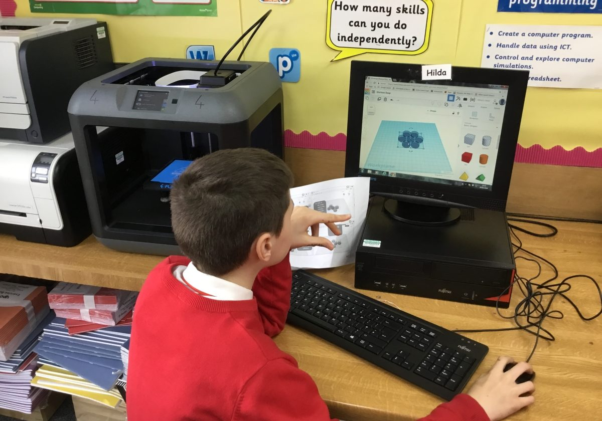 3D Design and Printing at St Monica's Primary School, Flixton, Manchester